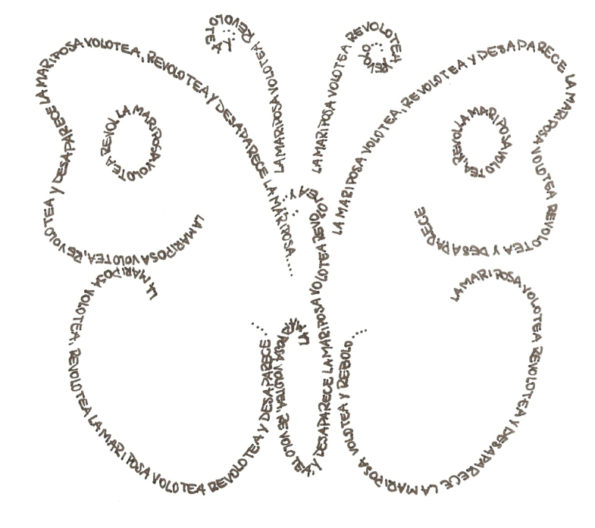 Mariposa Caligrama